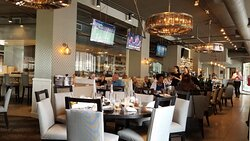 Inside dining at Grand Street Cafe, 4740 Grand Ave Ste 110, Kansas City, MO