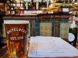 Beer, menu, bar.