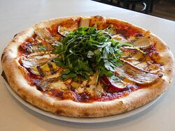 Grilled Peach & Pork Belly Pizza