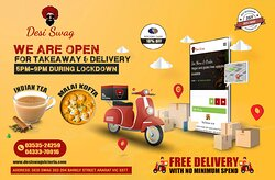 At DESI SWAG, we are open from 5 PM to 9 PM daily during the lockdown. You may visit us to carry out your desired food. If you can't come, you may get free delivery from us in Ararat. There is no minimum spend condition to order our food or drinks online. Call us for Deliveries/Take-Away on 📲 03535-24259, 📲 04333-70016. Come to DESI SWAG, 202-204, Barkly Street, Ararat-Vic. 10% OFF for Seniors Cardholders Order online at https://desiswagvictoria.com/welcome/menu_order