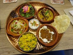 Thali Vegan  dinner plate. Wonderfull and delicious in flavours