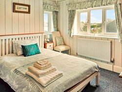 Duck Egg Blue Room with standard double bed