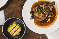 Veal Chop and Wild Mushrooms