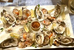 Modern Greek Dining Fresh Cold Seafood Platter