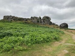 Cow and Calf rocks not far from Ilkley