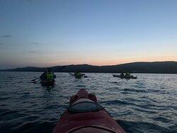 Unforgettable night kayak with bioluminescence