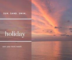 One week holiday break. See you next week!