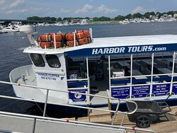 The harbor tour boat at it's mooring.