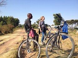 On a bike tour of Ukerewe Island.