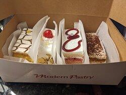 napoleon, strawberry shortcake , tiramisu  and rum savoy
