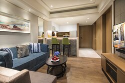 Somerset Swan Lake Hefei 1Bedroom Deluxe Living Room