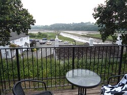 View from Estuary Room over Passage House Inn.