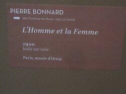 Musée Pierre BONNARD. Vue 12 Bis. Pierre BONNARD. Cartel de L'Homme et La Femme 1900. Juillet 2021. Le Cannet 06110.