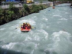 Rafting sulla Dora Baltea a Morgex