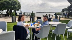 Lovely lunch by the sea