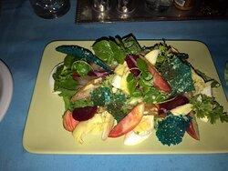 Cured fish salad