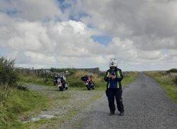 Bike Rentals, Klim riding gear. Pictured:  Sandra Franklin