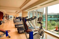Gym with Garden View