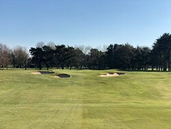 2nd shot view to 13th green
