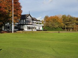 Clubhouse and putting green view