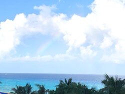 The Caribbean Sea from our room.