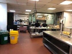 Clean & efficient room service kitchen