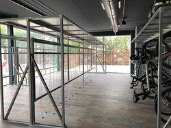 a large secured bike garage