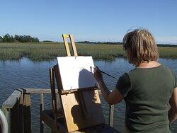 Plein air painters and photographers love Melon Bluff.