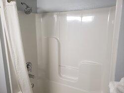 Shower in Handicap Accessible Double Bed Room