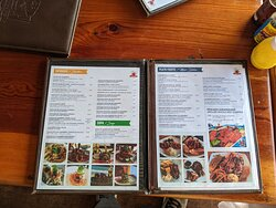 Page 1-2 of  Menu for La Langosta Loca Restaurant