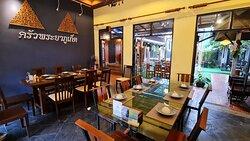 Seats inside the KruaPraya Phuket restaurant very nice atmosphere.