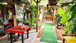 Seats in the garden the KruaPraya Phuket restaurant very nice atmosphere.