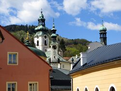 """Banská Štiavnica (UNESCO site) – historical """"silver"""" mining town with splendid Renaissance architecture, old mines and two castles."""