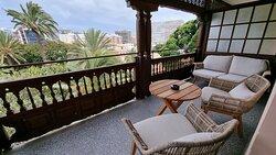 Presidential suite, master bedroom terrace