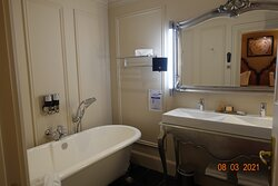 Superior Suite - main bathroom - no toilet, bathtub for two and double sinks
