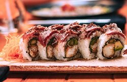 We always renew. Steak & Roll is on the house. A delicious meat roll. Visit Midori 🙌