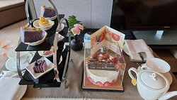 Afternoon tea for Suite + our birthday cake