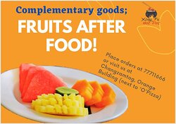 Healthy Diets! Fruits after food!