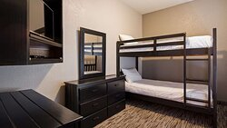 Single King Kitchenette Guest Room with Bunk Beds