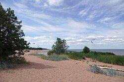 к пляжу кайтеров
