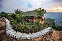 Each cottage has its own flower garden