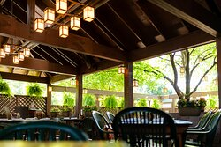 The Moose Preserve's expansive outdoor patio offers a respite so serene, you'd never know you're just feet from Woodward Avenue.