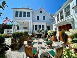 Relax on the porch and in the gardens at the White Porch inn Art Hotel