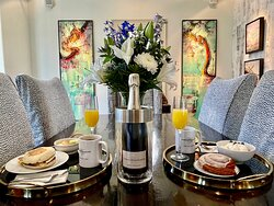 Enjoy breakfast in your room or in the common areas.