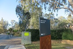 The Signage As You Enter McLean Beach