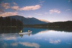 Paddling on Lac Beauvert