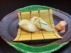 かぼす平目握り寿司