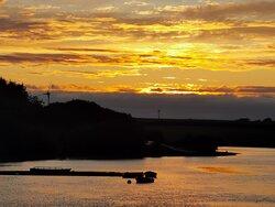 Sunset over Tamar Lake