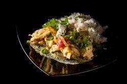 curry csirke jázminrizs