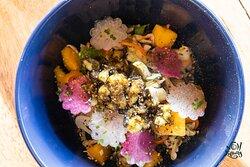Kumu Farm Papaya Salad: Jicama   Thai Chili Shrimp   Fish Sauce